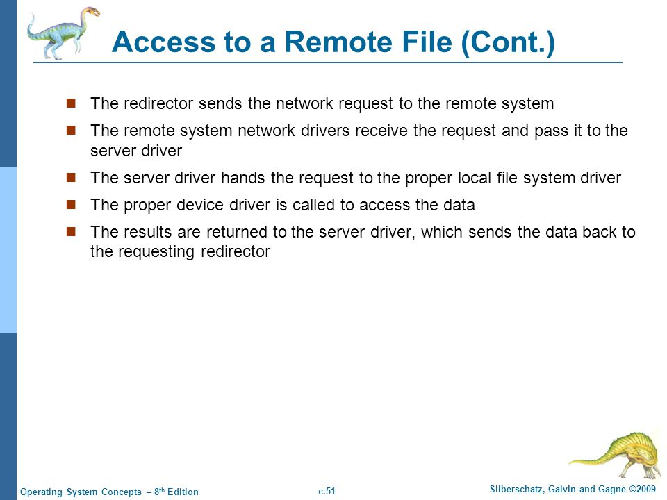 Access to a Remote File (Cont.)