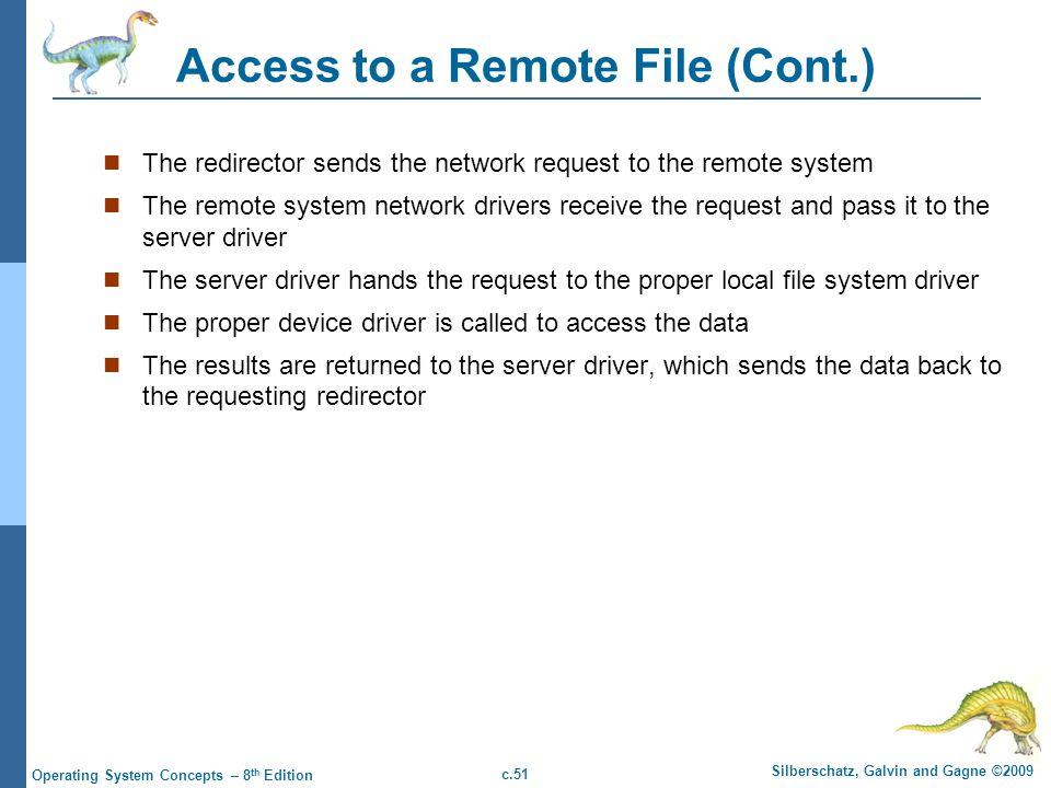 Access to a Remote File (Cont.)