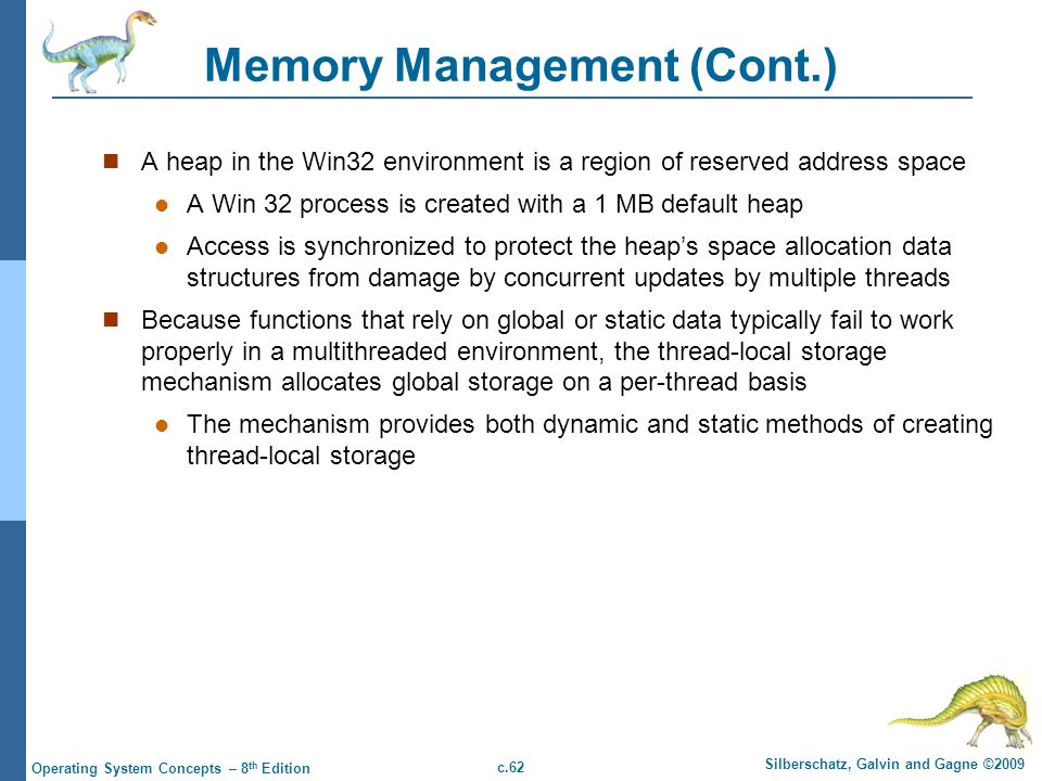Memory Management (Cont.)