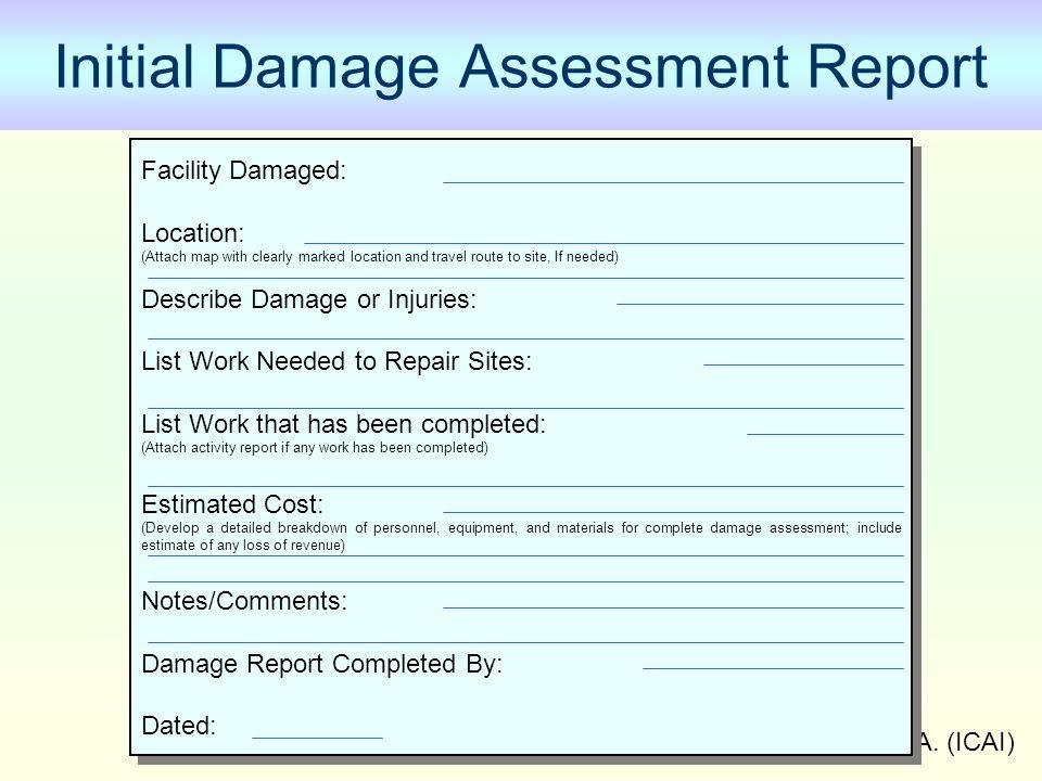 Initial Damage Assessment Report