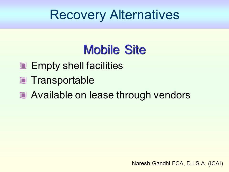 Recovery Alternatives