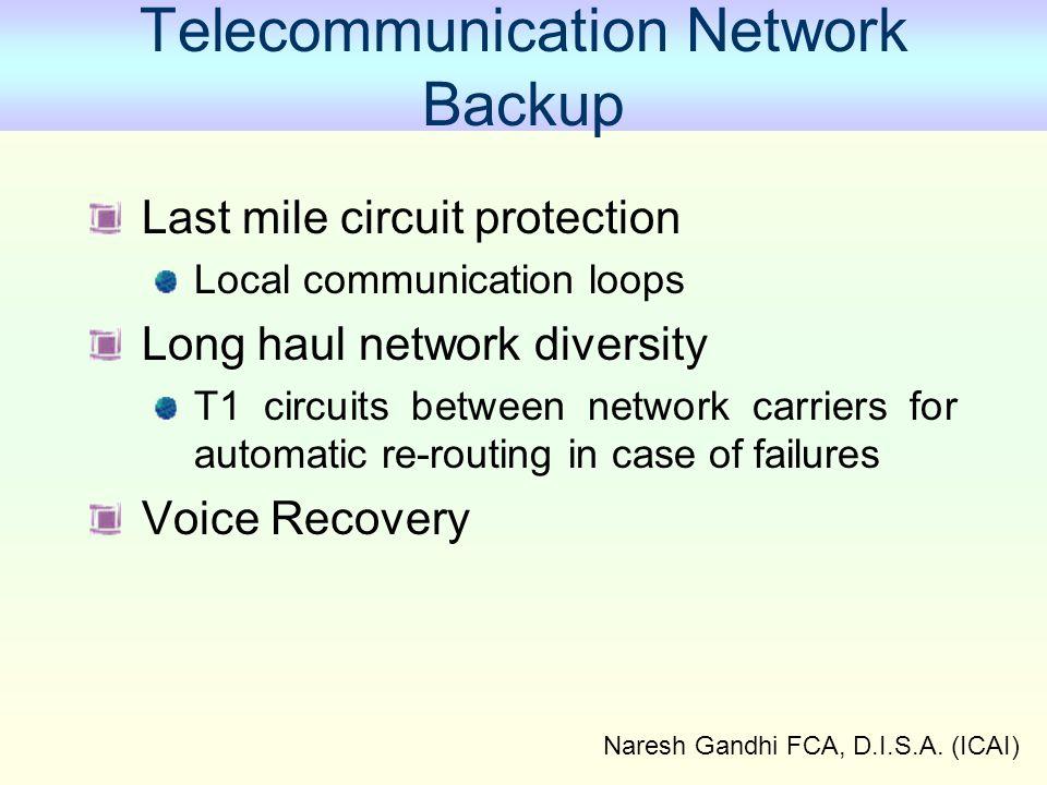 Telecommunication Network Backup