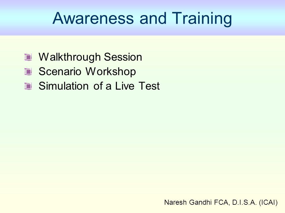 Awareness and Training