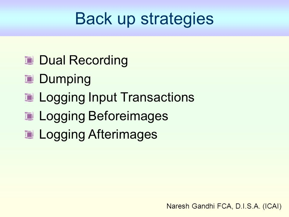 Naresh Gandhi FCA, D.I.S.A. (ICAI)