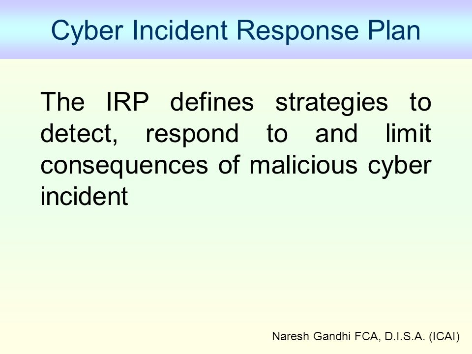 Cyber Incident Response Plan
