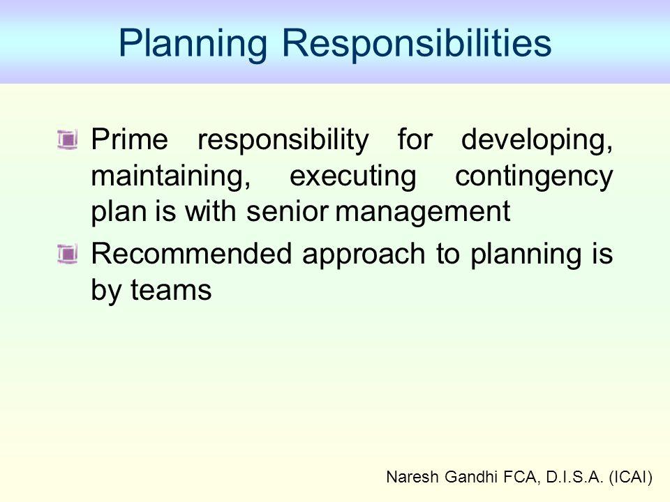 Planning Responsibilities