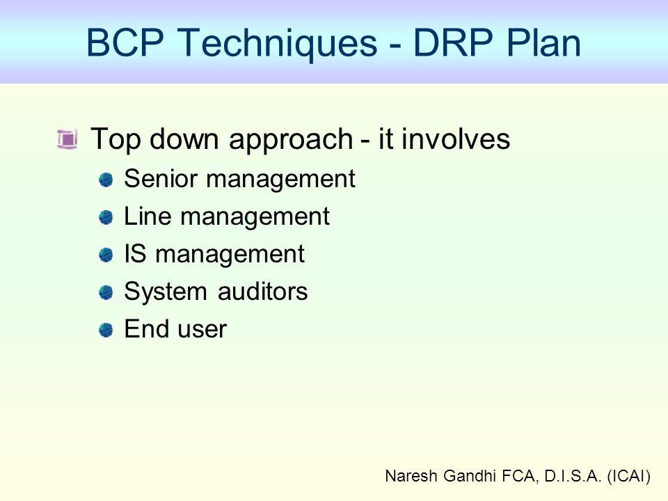 BCP Techniques - DRP Plan