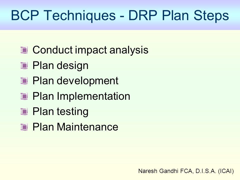 BCP Techniques - DRP Plan Steps
