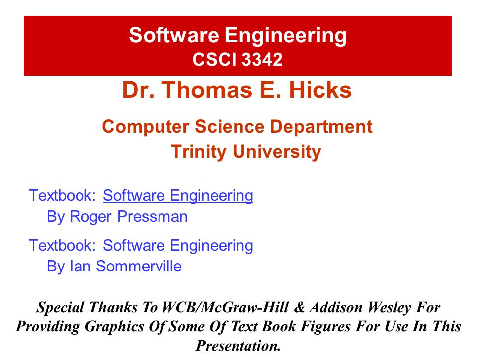 Software Engineering CSCI 3342