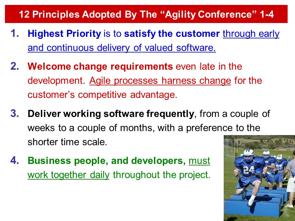 12 Principles Adopted By The Agility Conference 1-4