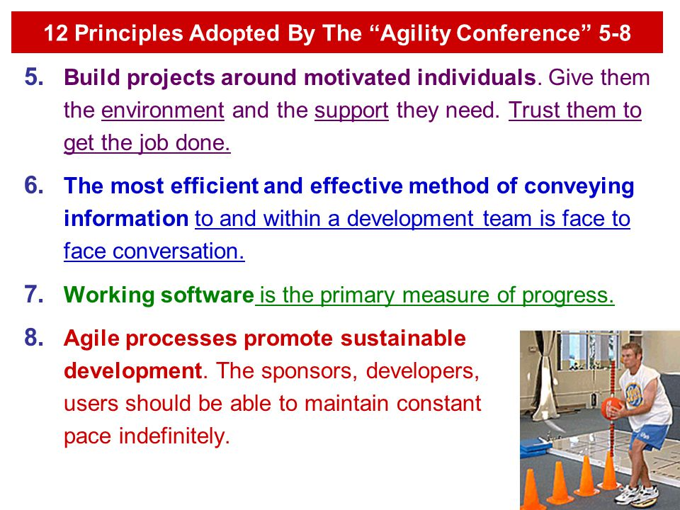 12 Principles Adopted By The Agility Conference 5-8