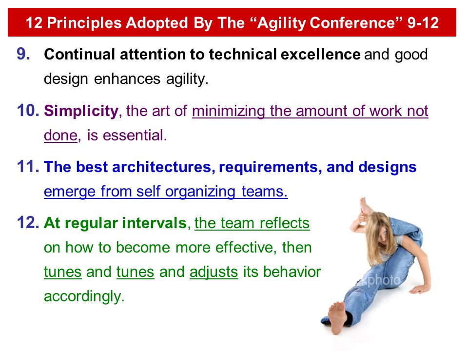 12 Principles Adopted By The Agility Conference 9-12
