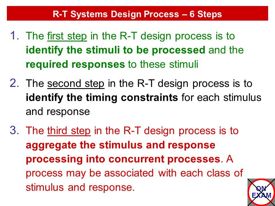 R-T Systems Design Process – 6 Steps