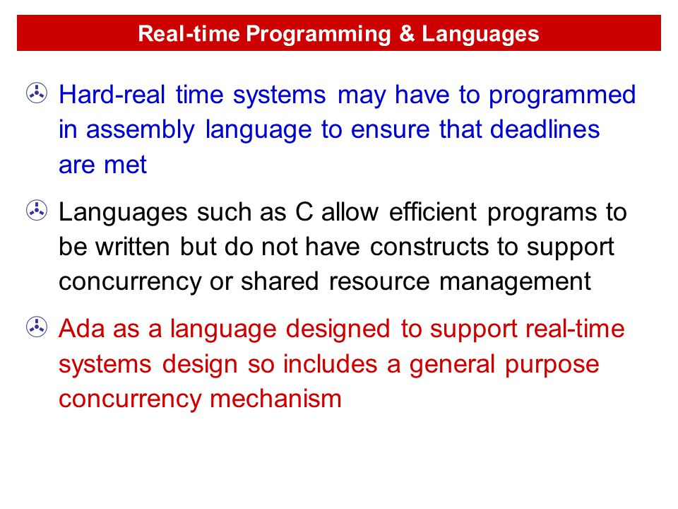 Real-time Programming & Languages