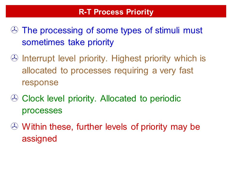 The processing of some types of stimuli must sometimes take priority