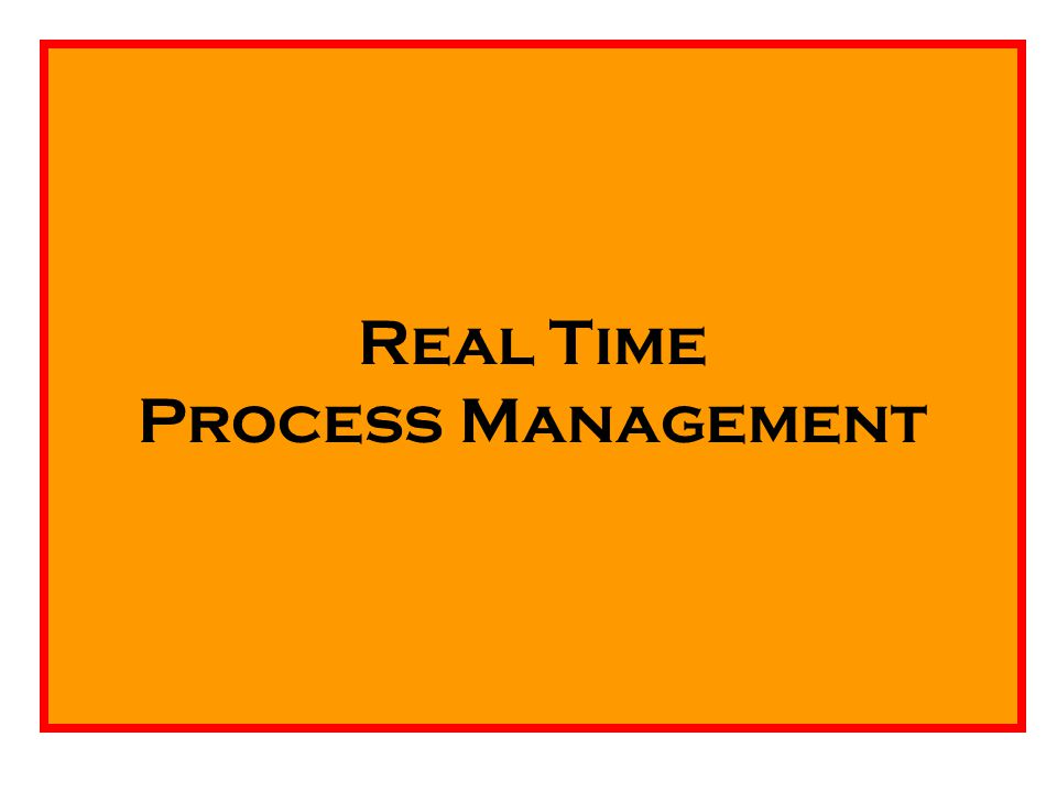 Real Time Process Management