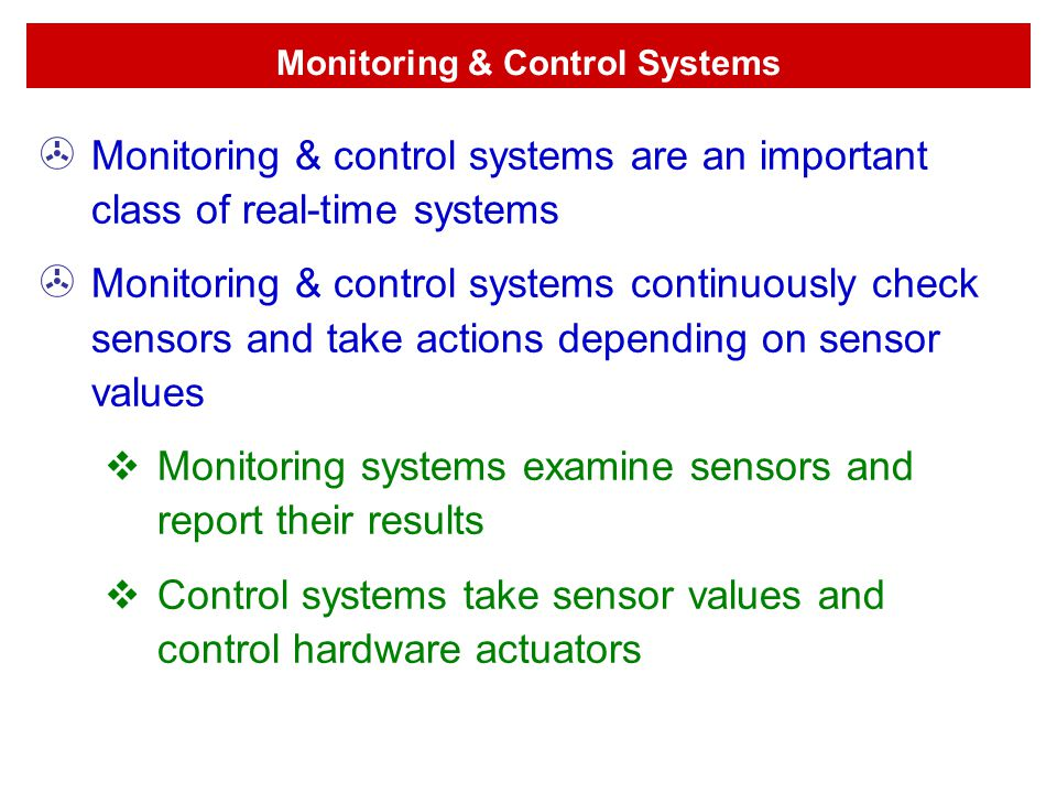 Monitoring & Control Systems