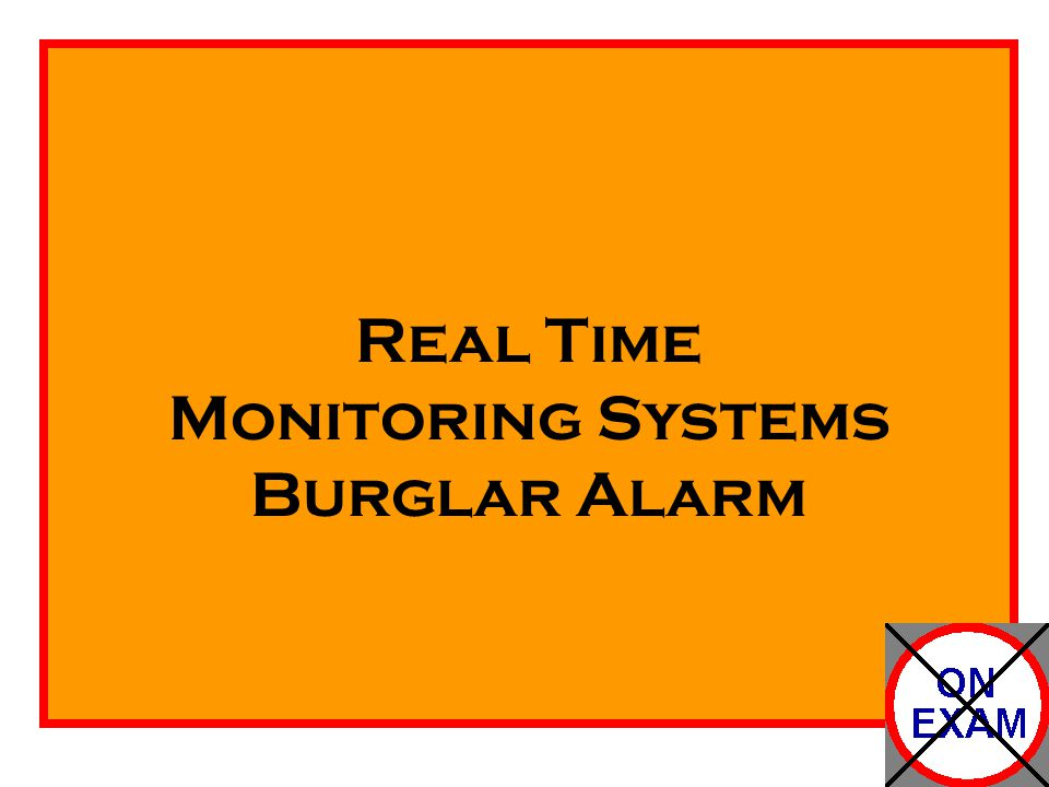 Real Time Monitoring Systems