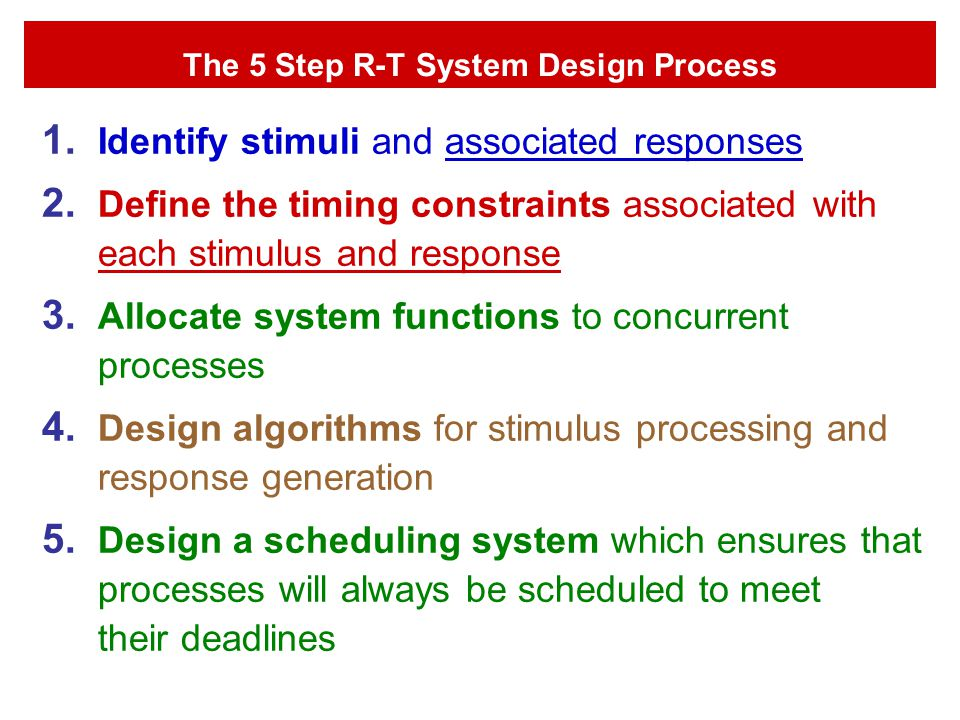 The 5 Step R-T System Design Process
