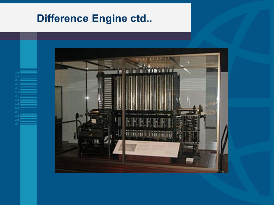 Difference Engine ctd..