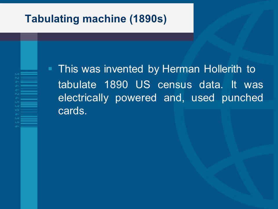 Tabulating machine (1890s)