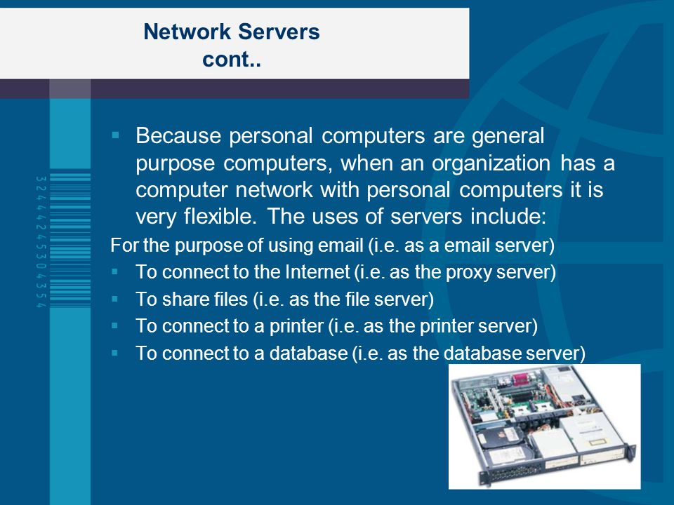 Network Servers cont..