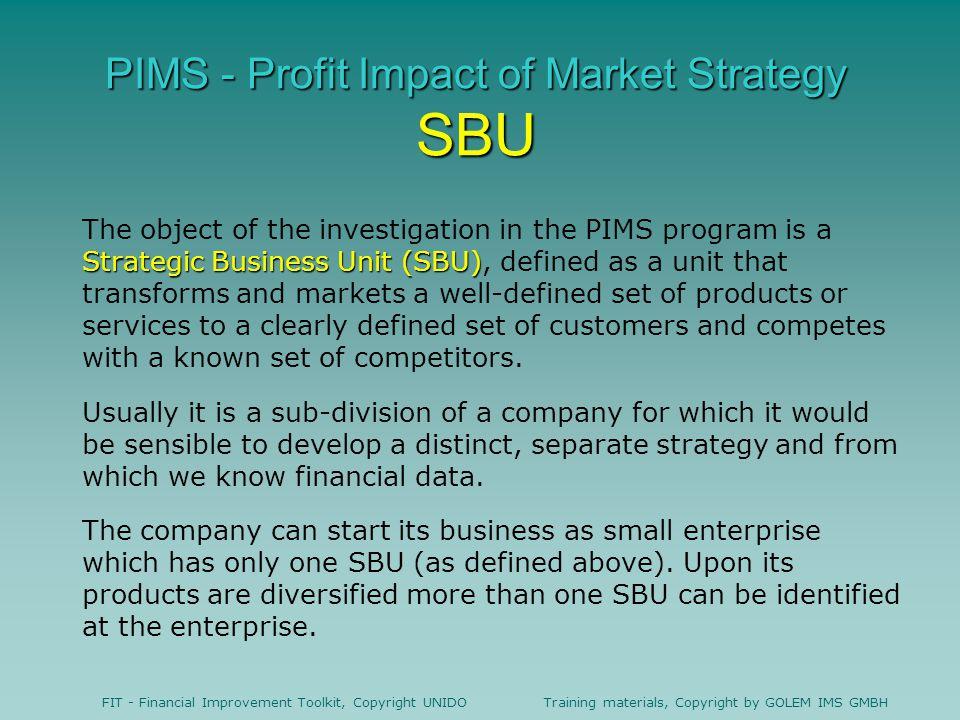 PIMS - Profit Impact of Market Strategy SBU