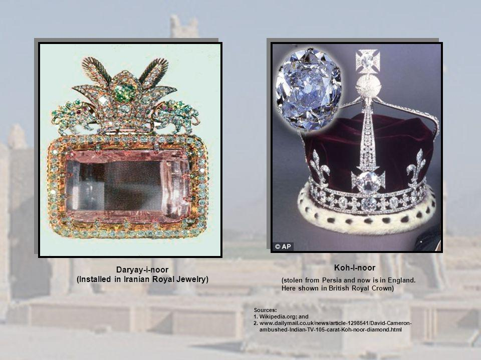 (Installed in Iranian Royal Jewelry)