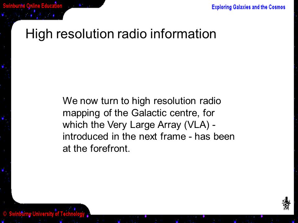High resolution radio information