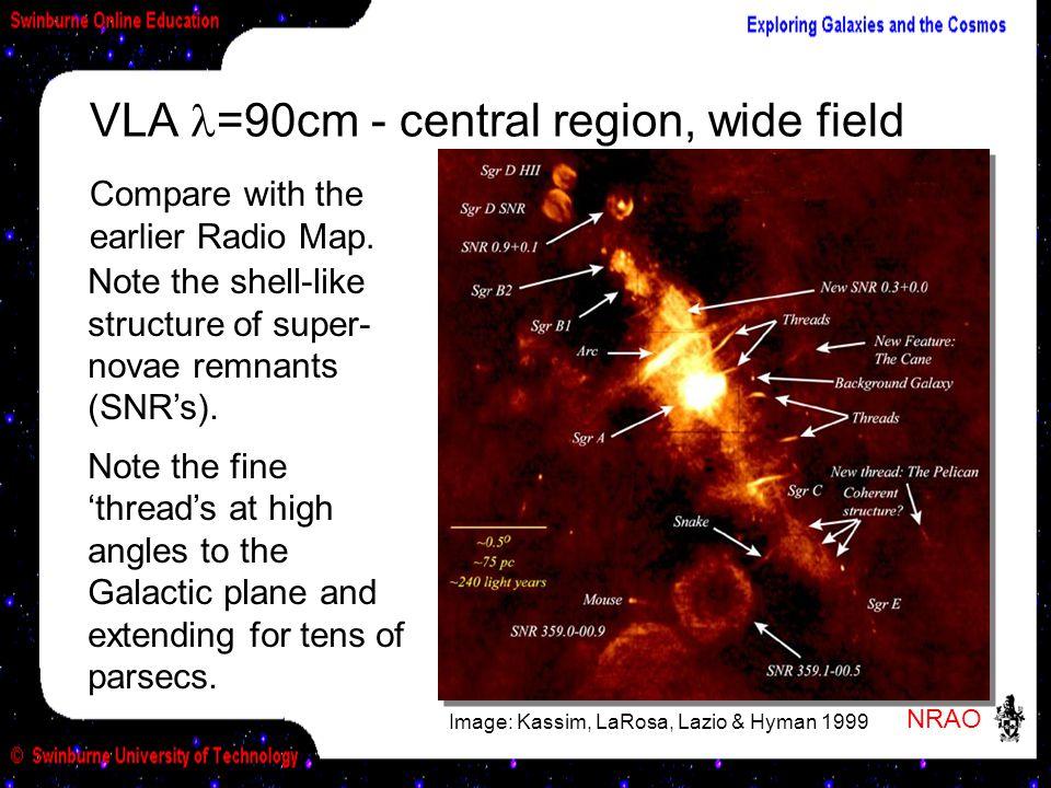 VLA l=90cm - central region, wide field