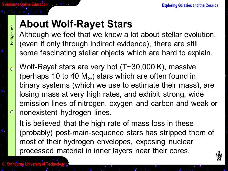 About Wolf-Rayet Stars