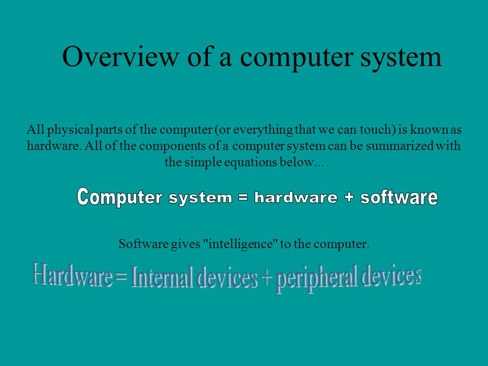 Overview of a computer system