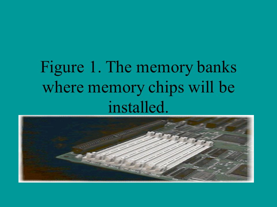 Figure 1. The memory banks where memory chips will be installed.