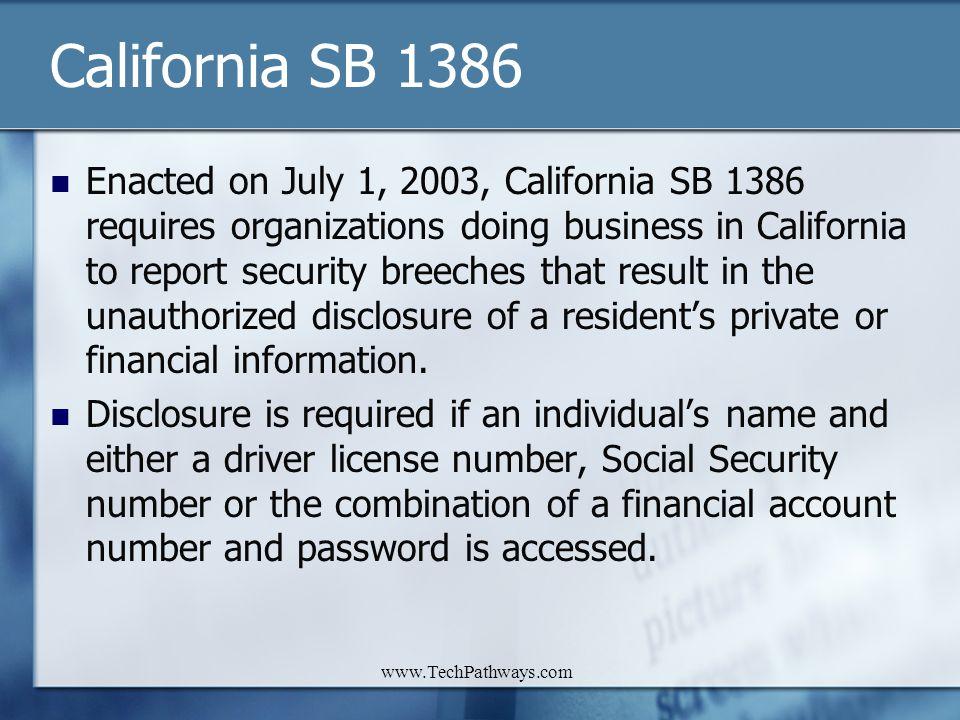 California SB 1386