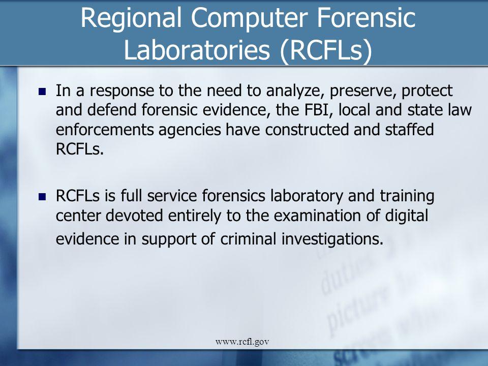 Regional Computer Forensic Laboratories (RCFLs)