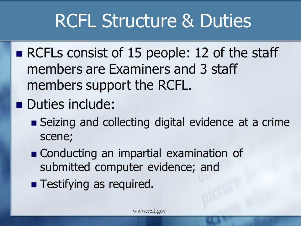 RCFL Structure & Duties