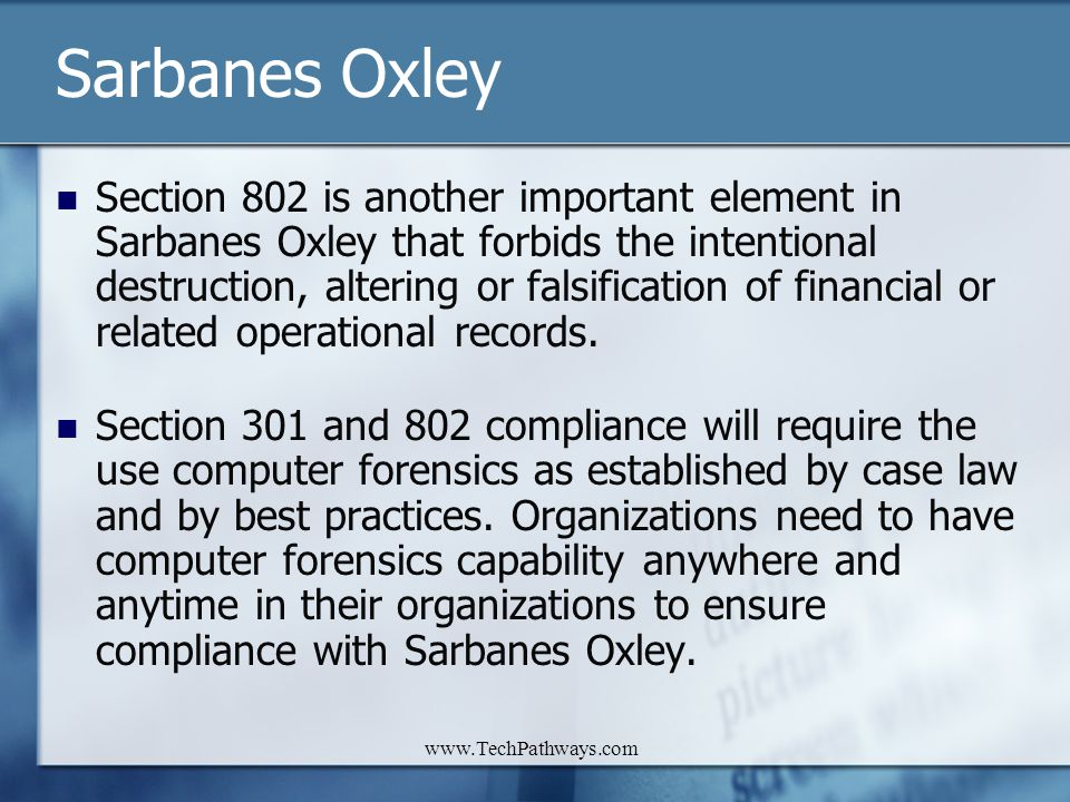 Sarbanes Oxley