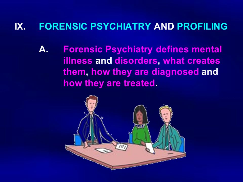 IX. FORENSIC PSYCHIATRY AND PROFILING. A