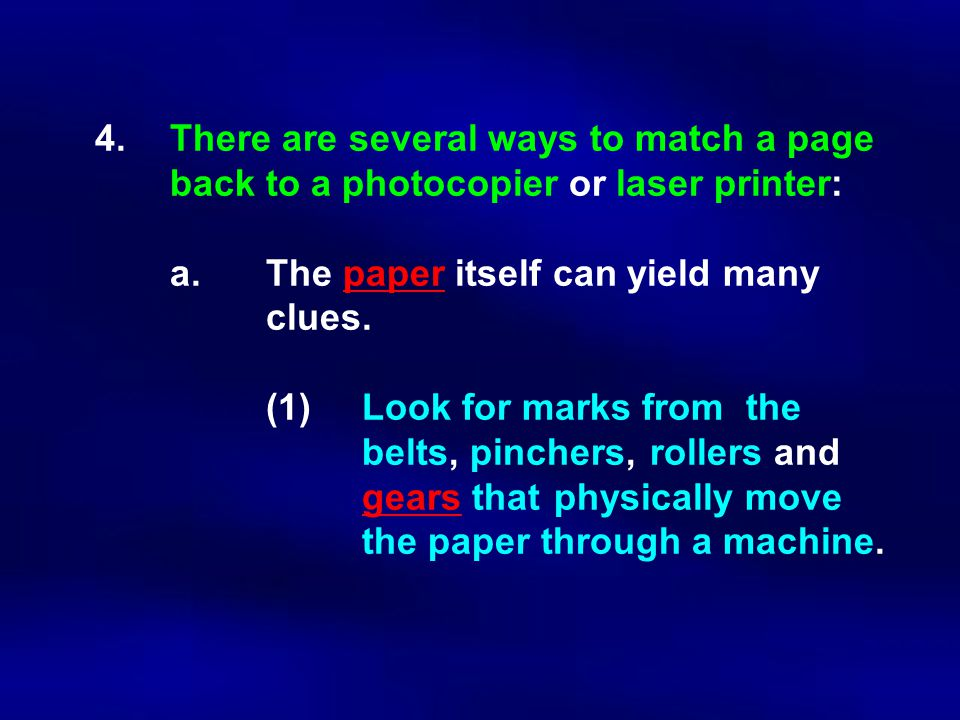 4. There are several ways to match a page