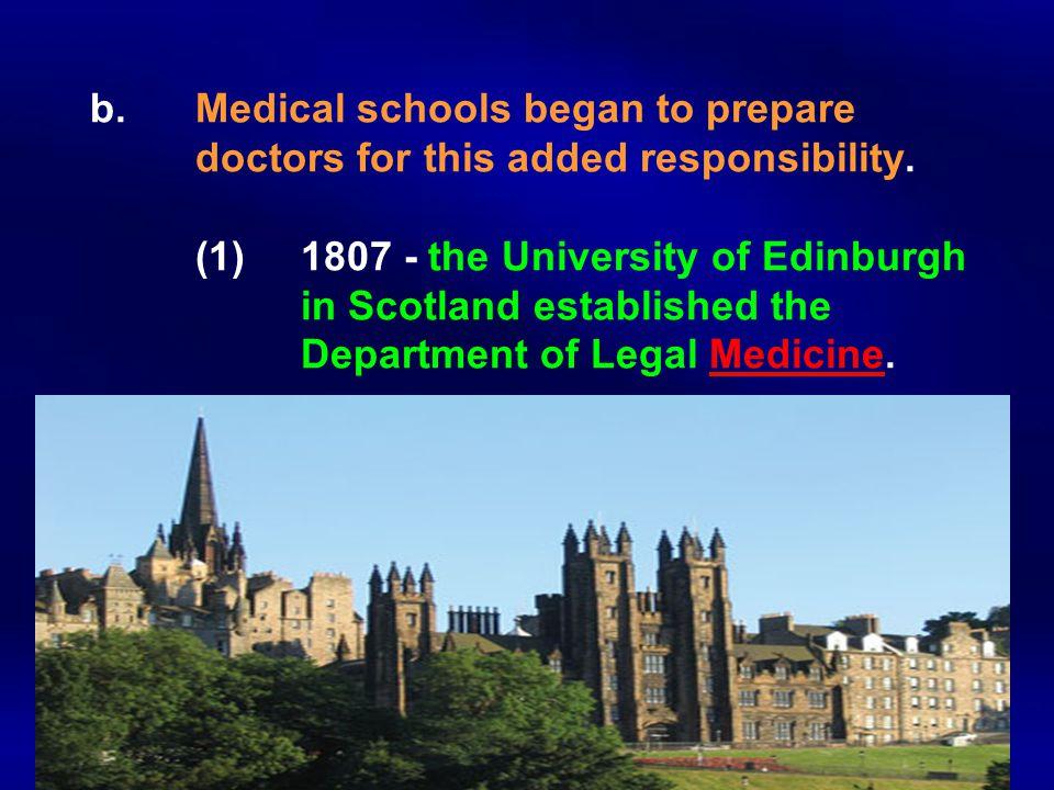 b. Medical schools began to prepare