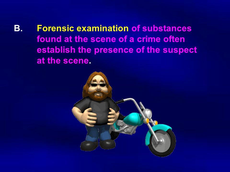 B. Forensic examination of substances