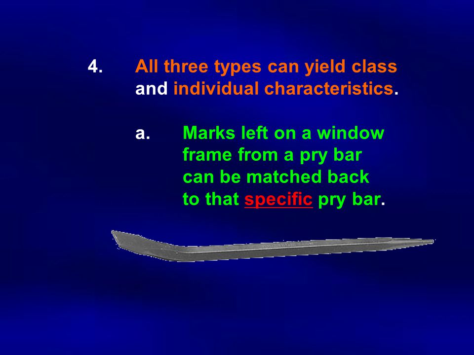 4. All three types can yield class. and individual characteristics. a