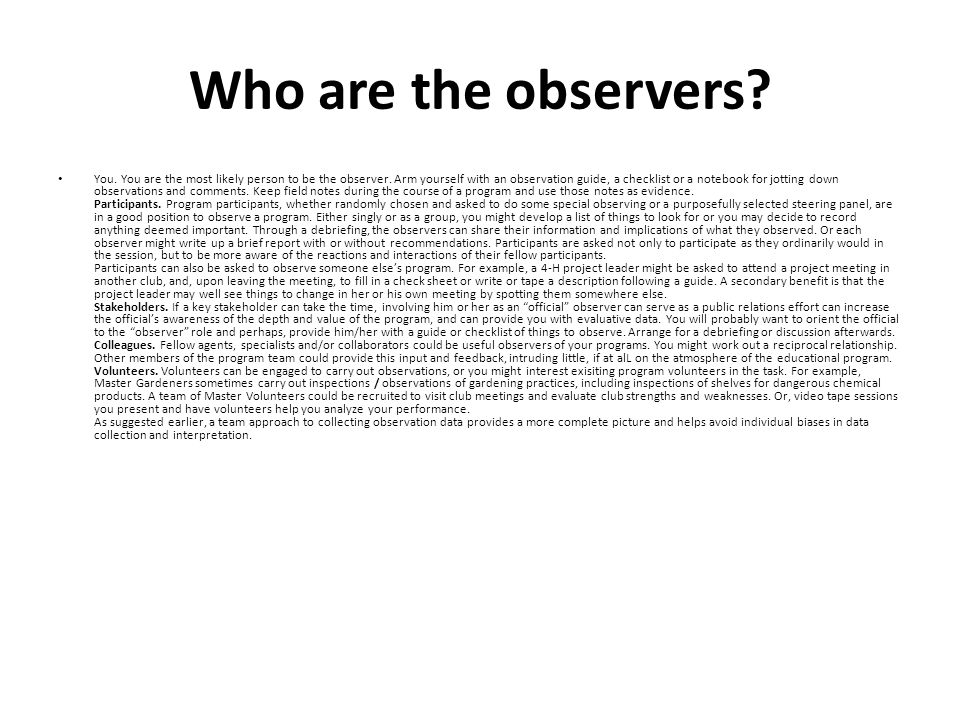 Who are the observers