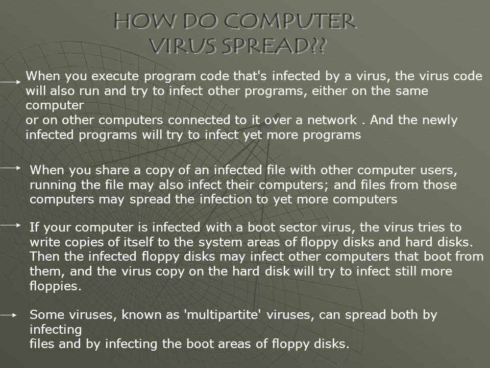 HOW DO COMPUTER VIRUS SPREAD