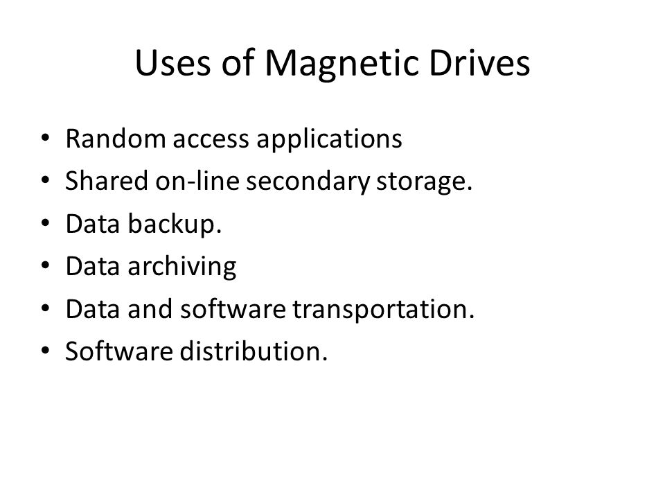 Uses of Magnetic Drives