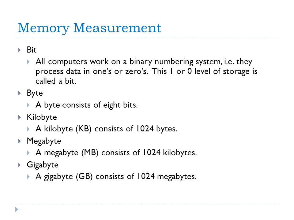Memory Measurement Bit