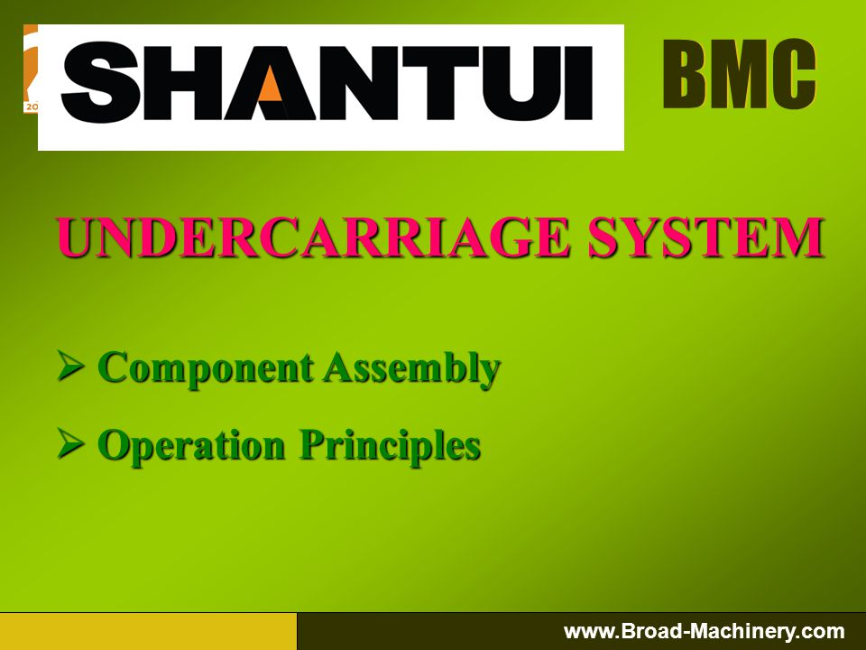 UNDERCARRIAGE SYSTEM Component Assembly Operation Principles