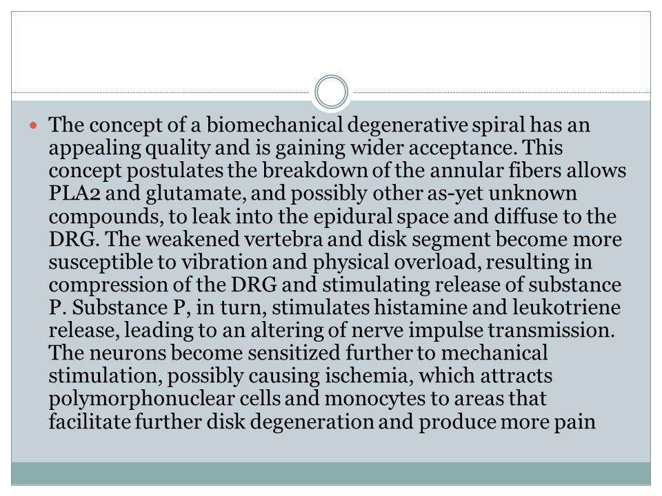 The concept of a biomechanical degenerative spiral has an appealing quality and is gaining wider acceptance.