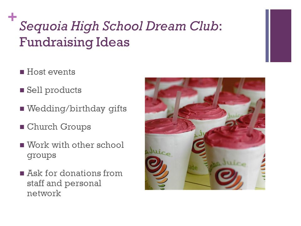 Sequoia High School Dream Club: Fundraising Ideas
