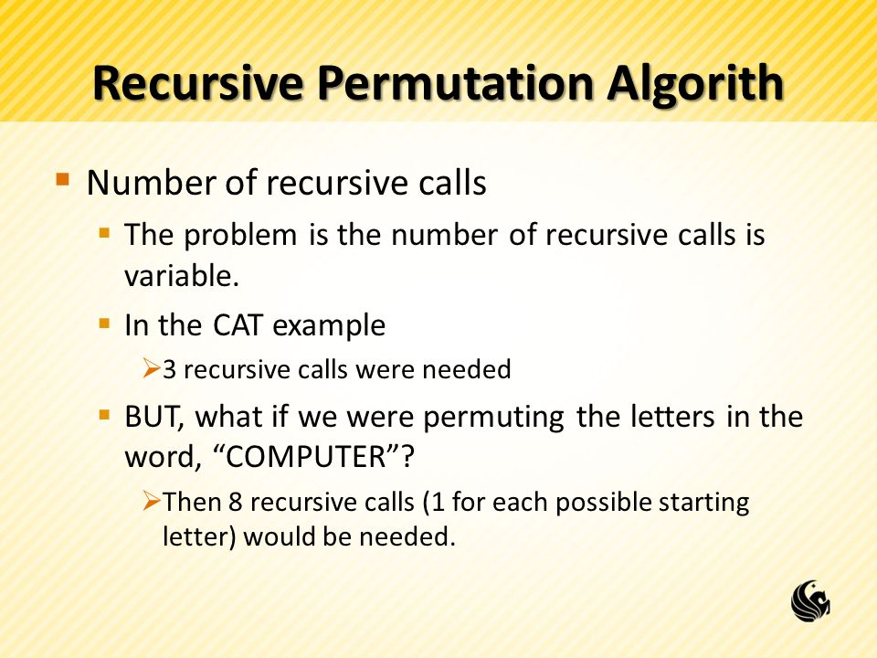 Recursive Permutation Algorith